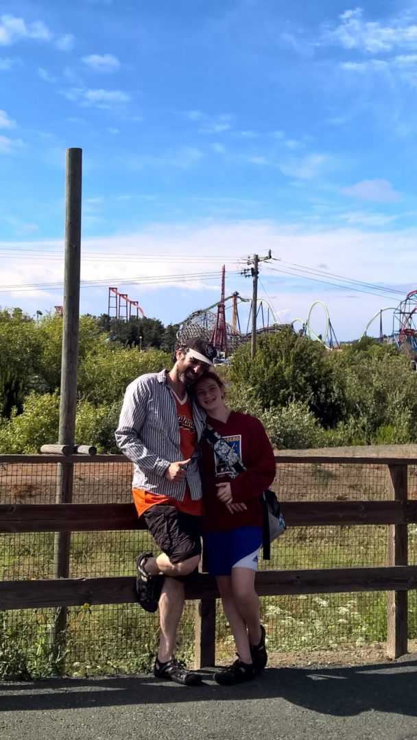 A and Z after the roller coasters